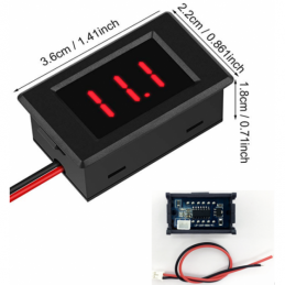 China 0.36 inch Digital Voltmeter Red  LED Display DC 3.1-32V Voltage Tester Panel Meter Two Wires   0.36 inch Digital Voltmeter Red  LED Display DC 3.1-32V Voltage Tester Panel Meter Two Wires   company