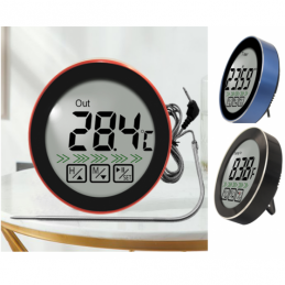 China Round Touch Screen Digital Meat Kitchen Food Thermometer With Timer  Round Touch Screen Digital Meat Kitchen Food Thermometer With Timer  company