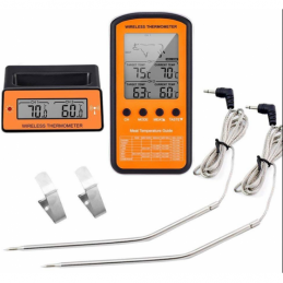 China Digital Wireless Food Thermometer with Dual Probes Digital Wireless Food Thermometer with Dual Probes company